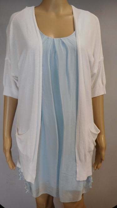 Kleid mit Kurzarmweste