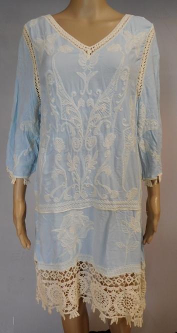 Long Lacy Kleid