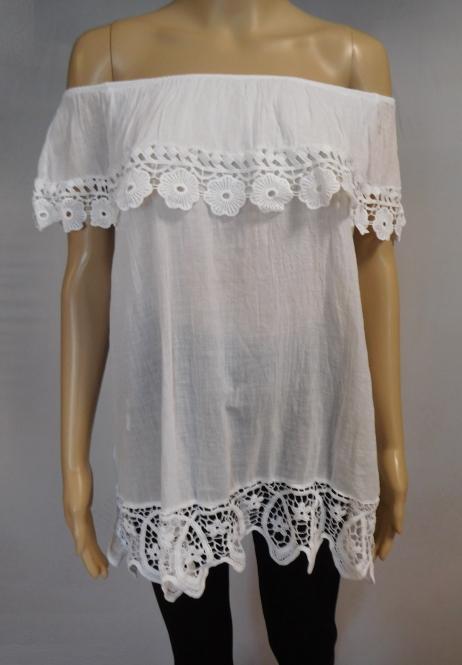 Luftiges Vintage Carmen-Shirt