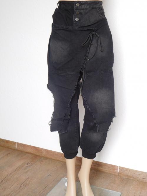 Damenhose Jeans Boyfriend Aladinhose Haremjeans Baggy Damenmode