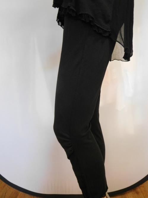 Leggings mit Spitzenbesatz
