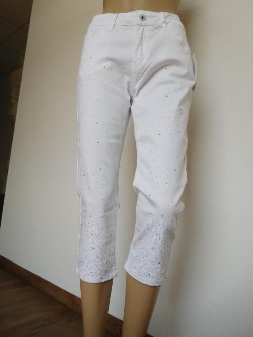 Capri Jeans in Weiß