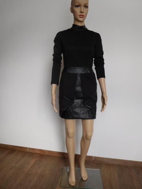 MM Kleid mit Ledereinsatz