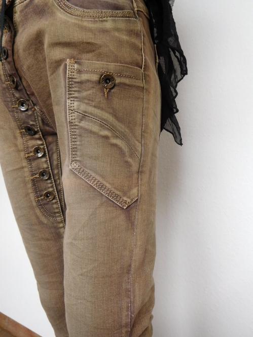 Damen Stretch Hose Röhre Jeans - Look Skinny
