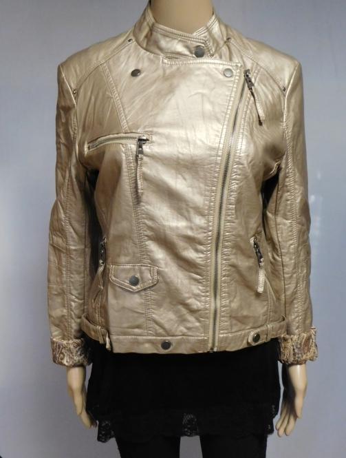 Starshocker Damen Bikerjacke - Gold
